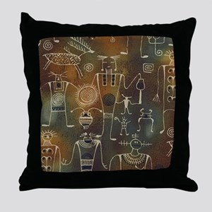 Hopi Petroglyphs Throw Pillow