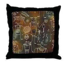 Hopi Petroglyphs Throw Pillow