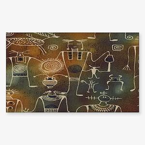 Hopi Petroglyphs Sticker (Rectangle)