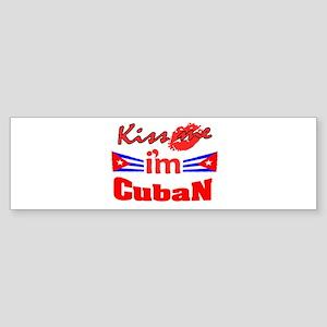 Kiss me i'm Cuban Bumper Sticker