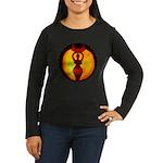 Jack-o-Lantern #1 Women's Long Sleeve Dark T-Shirt