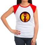 Jack-o-Lantern #1 Women's Cap Sleeve T-Shirt