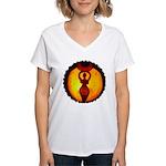Jack-o-Lantern #1 Women's V-Neck T-Shirt