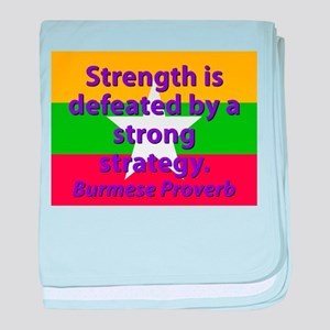Strength Is Defeated baby blanket