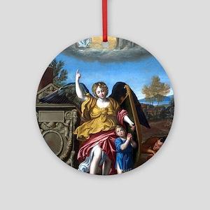 Domenichino - Guardian Angel - 1615 Ornament (Roun