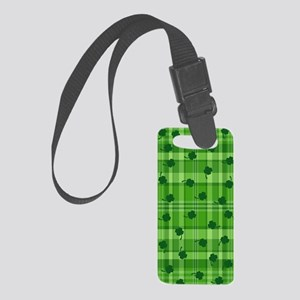 Four Leaf Clover Plaid Small Luggage Tag