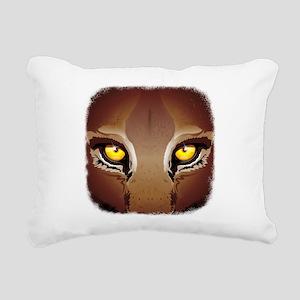 Wild Puma Eyes Rectangular Canvas Pillow