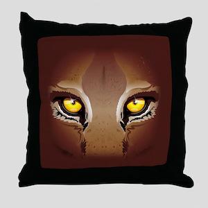 Wild Puma Eyes Throw Pillow