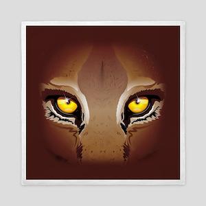 Wild Puma Eyes Queen Duvet