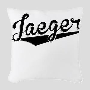 Jaeger, Retro, Woven Throw Pillow