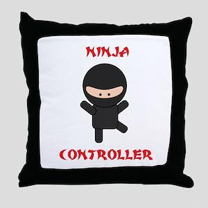Ninja Controller Throw Pillow