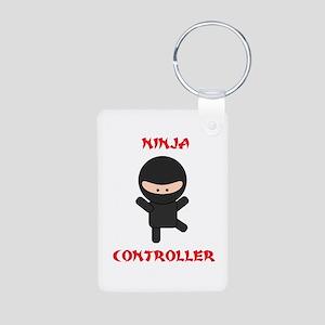 Ninja Controller Aluminum Photo Keychain