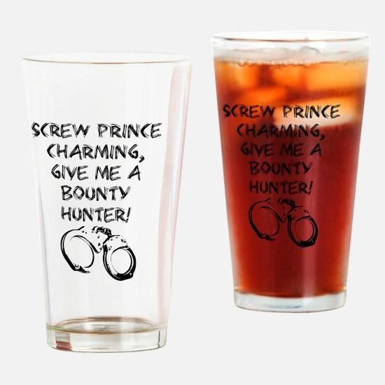 Unique Dog bounty hunter com Drinking Glass