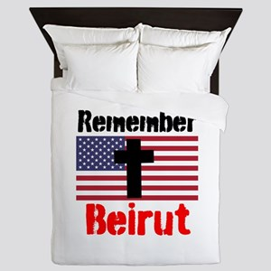 Remember Beirut Queen Duvet