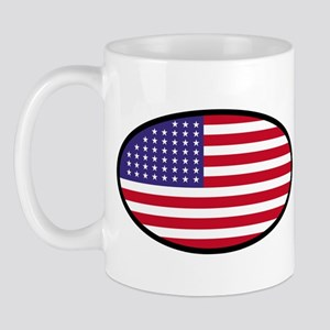 Star Spangled Oval Mug