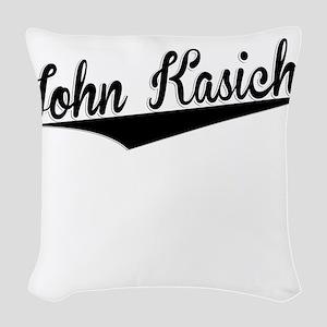 John Kasich, Retro, Woven Throw Pillow