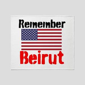 Remember Beirut Throw Blanket