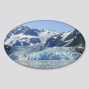 Where Glacier Meets Ocean Sticker (Oval)