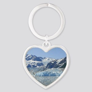 Where Glacier Meets Ocean Heart Keychain