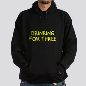Eating For Two Drinking For Three Hoodie (dark)