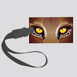Wild Puma Eyes Luggage Tag