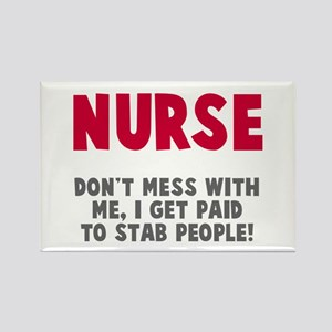 Nurse Stab People Rectangle Magnet