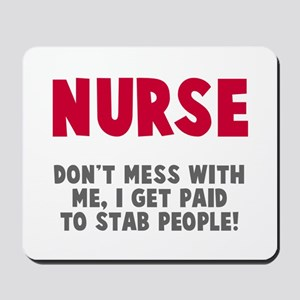 Nurse Stab People Mousepad