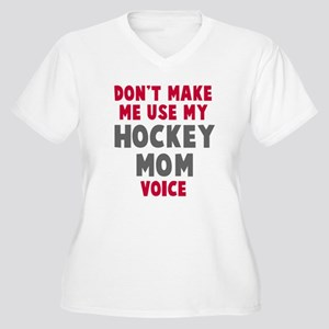 Hockey Mom Voice Women's Plus Size V-Neck T-Shirt