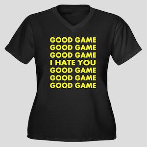Good Game I Women's Plus Size V-Neck Dark T-Shirt