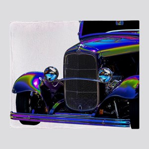 Classic Ford Hotrod - Vintage Auto Throw Blanket