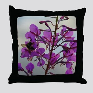 Fireweed Blooms Throw Pillow