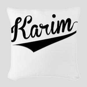 Karim, Retro, Woven Throw Pillow