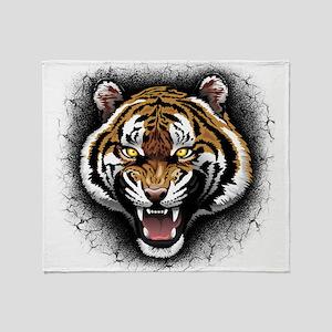 The Tiger Roar Throw Blanket