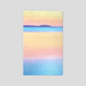 Colorful Pastel Bay - Beach Design 3'x5' Area Rug