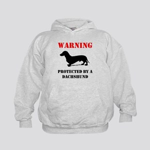 Protected By A Dachshund Hoodie