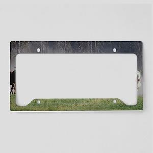 Galloping Horses License Plate Holder