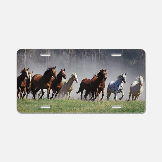 Galloping Horses Aluminum License Plate
