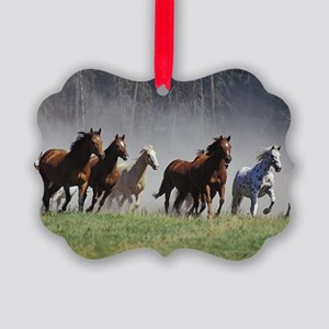 Galloping Horses Picture Ornament