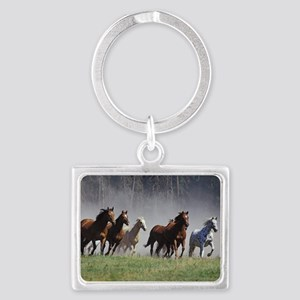 Galloping Horses Landscape Keychain