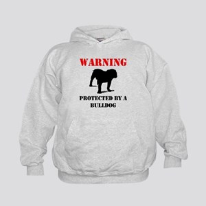 Protected By A Bulldog Hoodie