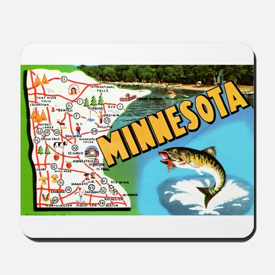 1940's Minnesota Map Mousepad