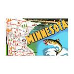 1940's Minnesota Map 35x21 Wall Decal