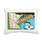 1940's Minnesota Map Rectangular Canvas Pillow