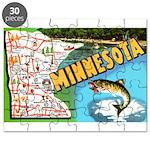 1940's Minnesota Map Puzzle