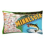 1940's Minnesota Map Pillow Case
