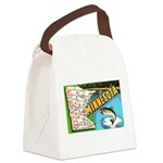 1940's Minnesota Map Canvas Lunch Bag