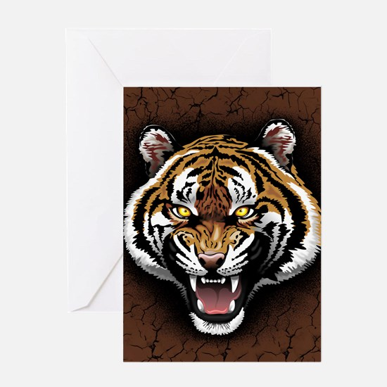 The Tiger Roar Greeting Cards