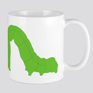 Green Inchworm Mugs