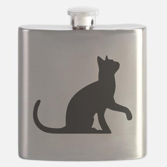 Cat Sitting Flask