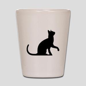 Cat Sitting Shot Glass
